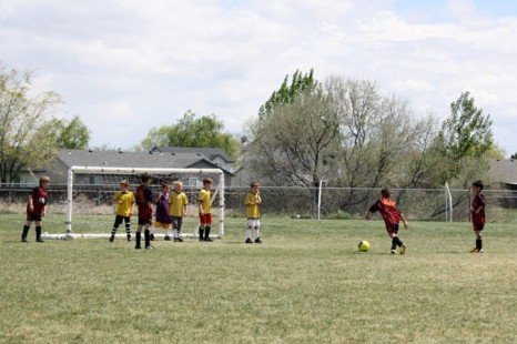 Real Boise CF U8 taking a Free Kick