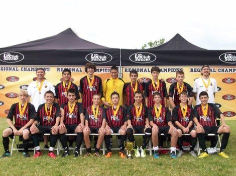 U15 boys US Club Regional Champions in Seattle