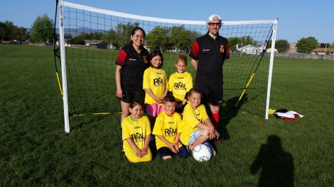 Real U8 Academy team after practice! April 30, 2015