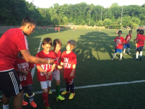 Curriculum_landing_page and Hamzic working with pre-academy players in NY
