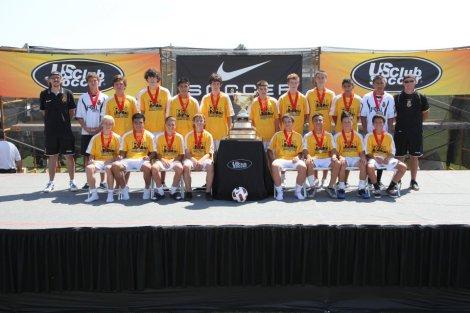 Real Boise CF U15 Boys -  USClub National-championship-finalists-2011