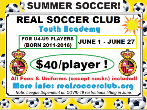 Real SC Generic Academy ad Flyer SUMMER 2020 v1