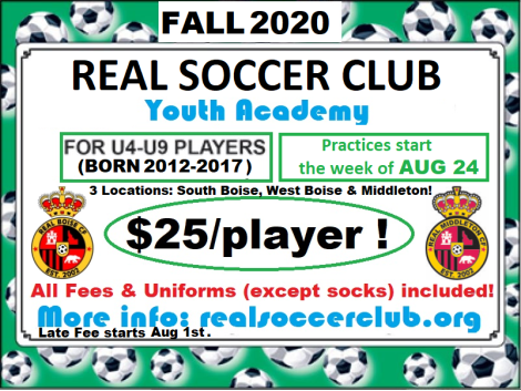 Real Soccer Academy GENERIC ad Flyer Fall 2020 v1